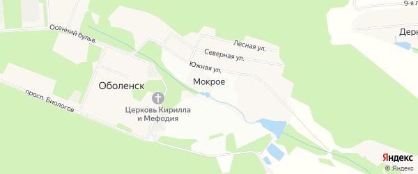 Карта деревни Мокрого в Московской области с улицами и номерами домов