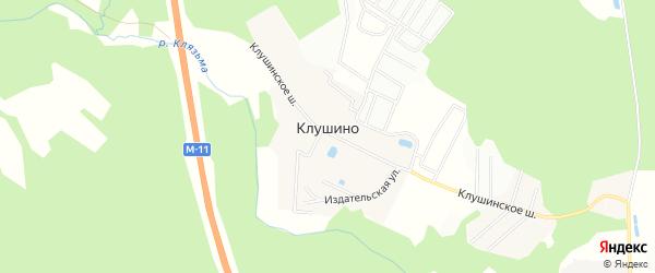Квартал Жемчужный-Клушино на карте деревни Клушино с номерами домов