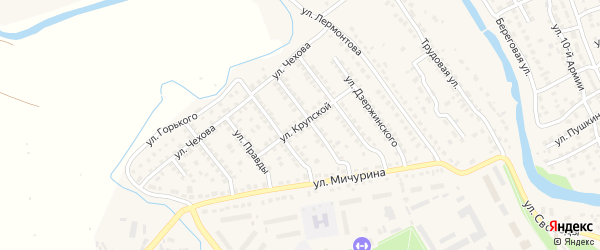 Улица Крупской на карте Плавска с номерами домов