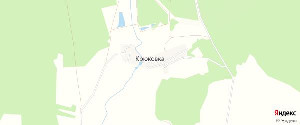 Карта деревни Крюковки в Тульской области с улицами и номерами домов