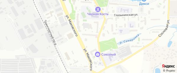 Нижне-Пролетарская улица на карте Одинцово с номерами домов
