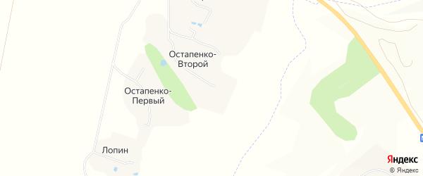 Карта Остапенко Второй хутора в Белгородской области с улицами и номерами домов