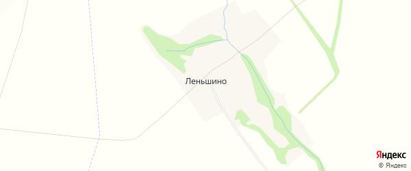 Карта деревни Леньшино в Орловской области с улицами и номерами домов