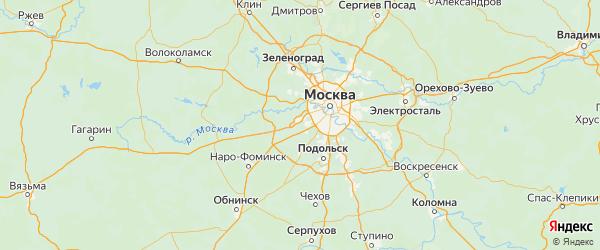 Карта Внуковского поселения города Москвы с городами и населенными пунктами