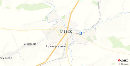 Карта Плавска с улицами и домами подробная. Показать со спутника номера домов онлайн