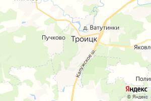 Карта г. Троицк Московская область