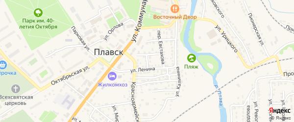 Переулок Чапаева на карте Плавска с номерами домов