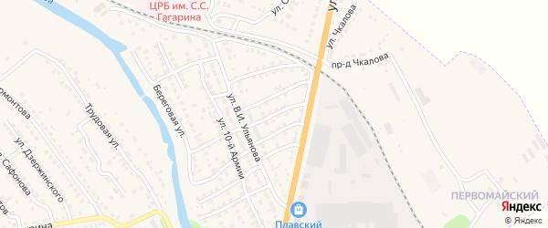 Переулок Герцена на карте Плавска с номерами домов