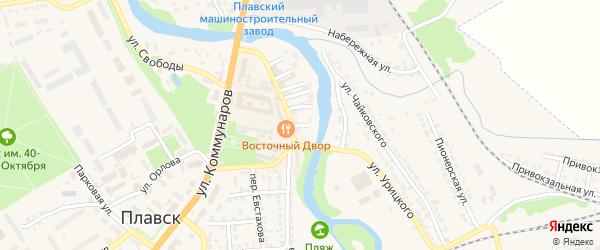 Южный переулок на карте Плавска с номерами домов