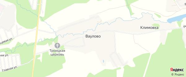 Карта деревни Ваулово города Чехов в Московской области с улицами и номерами домов