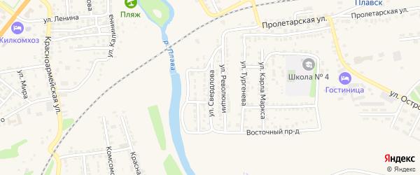 Улица Свердлова на карте Плавска с номерами домов