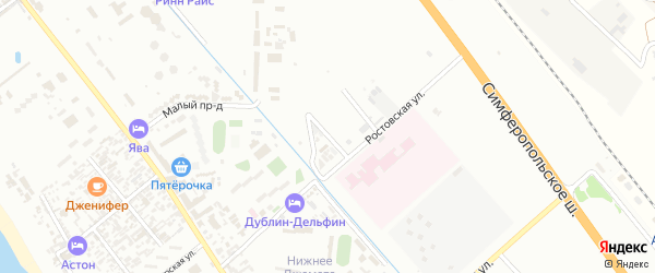 Радужный переулок на карте Анапы с номерами домов