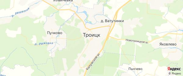 Карта Троицка с районами, улицами и номерами домов