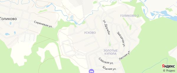 Карта квартала Усково города Химок в Московской области с улицами и номерами домов