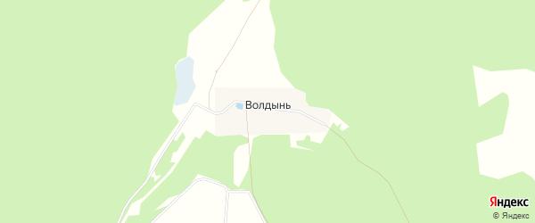 Карта деревни Волдыни в Московской области с улицами и номерами домов