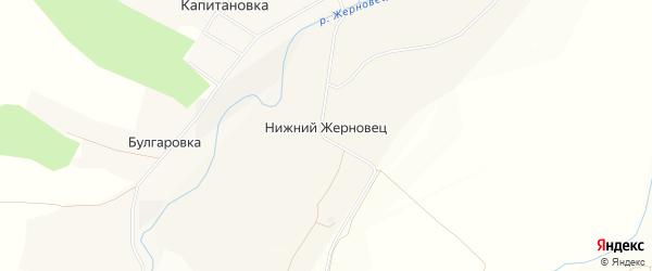 Карта села Нижнего Жерновца в Орловской области с улицами и номерами домов