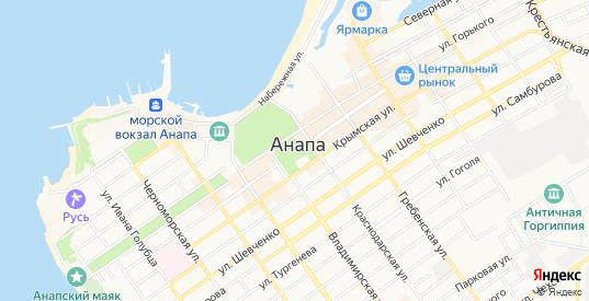 Карта Анапы с улицами и домами подробная. Показать со спутника номера домов онлайн