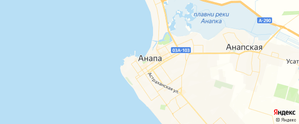 Карта Анапы с районами, улицами и номерами домов