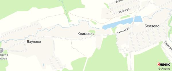 Карта деревни Климовка города Чехов в Московской области с улицами и номерами домов