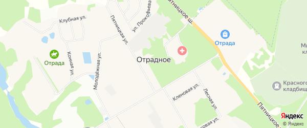 Карта поселка Отрадного города Красногорска в Московской области с улицами и номерами домов