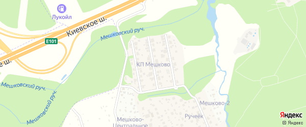 Верхняя улица на карте Московского с номерами домов