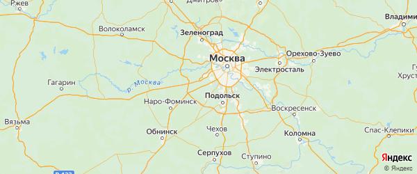 Карта Филимонковского поселения города Москвы с городами и населенными пунктами
