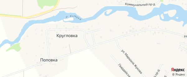 Переулок Лялин на карте Кимр с номерами домов