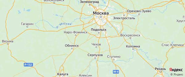 Карта Кленовского поселения города Москвы с городами и населенными пунктами