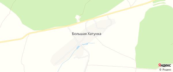 Карта деревни Большей Хатунки в Тульской области с улицами и номерами домов
