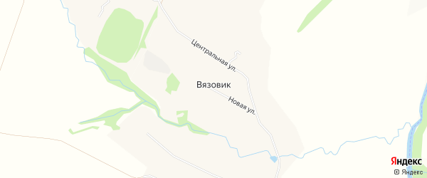 Карта села Вязовика в Орловской области с улицами и номерами домов