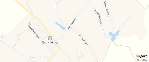 Зеленая улица на карте Истобного села с номерами домов