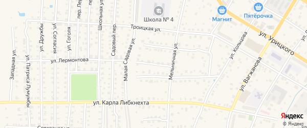 Безымянный проезд на карте Кимр с номерами домов
