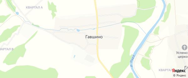 Карта деревни Гавшино в Московской области с улицами и номерами домов