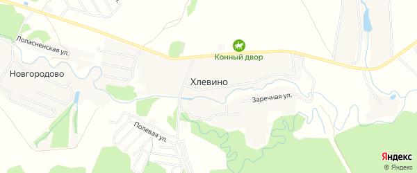 Карта деревни Хлевина города Чехов в Московской области с улицами и номерами домов