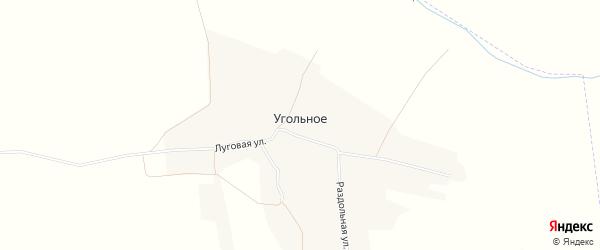 Карта деревни Угольного в Орловской области с улицами и номерами домов