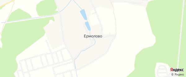 Карта деревни Ермолова города Чехов в Московской области с улицами и номерами домов