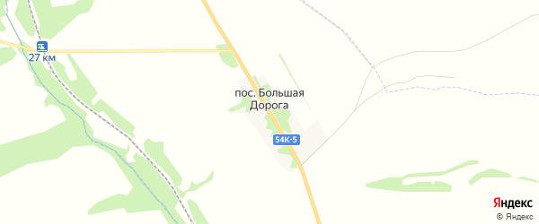 Карта поселка Большей Дороги в Орловской области с улицами и номерами домов