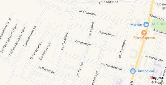 Луговая улица в Кимрах с номерами домов на карте. Спутник и схема онлайн