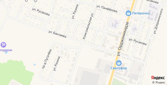 Улица Баклаева в Кимрах с номерами домов на карте. Спутник и схема онлайн