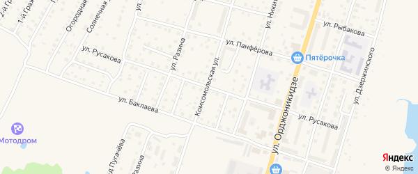 Улица Русакова на карте Кимр с номерами домов