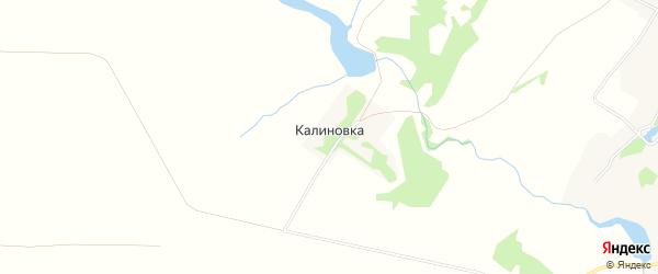 Карта деревни Калиновки в Орловской области с улицами и номерами домов