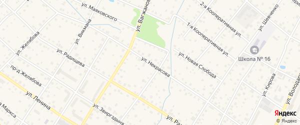 Улица Некрасова на карте Кимр с номерами домов