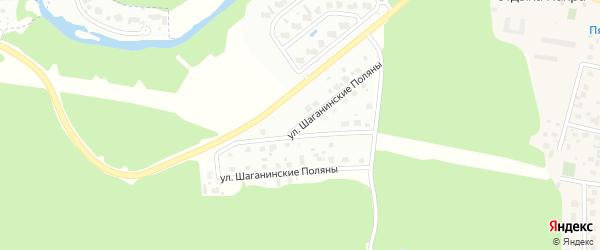 Улица Шаганинские поляны на карте Щаповского поселения с номерами домов