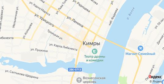 Карта территории ГСК 43 в Кимрах с улицами, домами и почтовыми отделениями со спутника онлайн