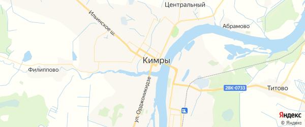 Карта Кимр с районами, улицами и номерами домов