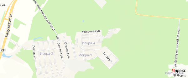 Квартал 107 на карте поселения Киевского с номерами домов