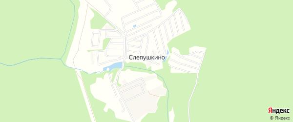 Карта деревни Слепушкино города Чехов в Московской области с улицами и номерами домов