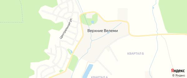 Карта деревни Верхние Велеми в Московской области с улицами и номерами домов