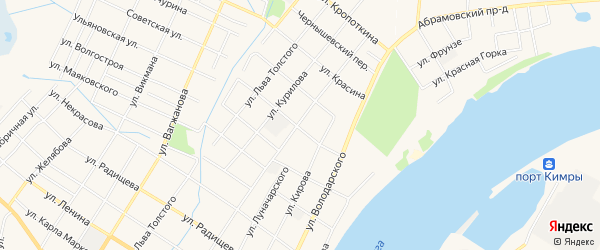 ГСК 18 на карте Кимр с номерами домов