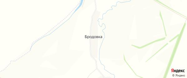 Карта деревни Бродовки в Тульской области с улицами и номерами домов